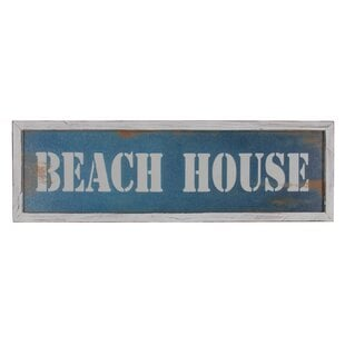 WoodenFramedBeachHouseWallDE9cor Beach Wall Decor & Coastal Wall Decor