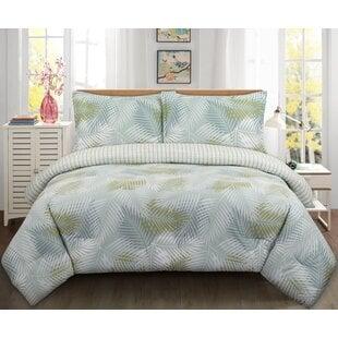 WymPalmsReversibleComforterSet Palm Tree Bedding Sets & Comforters & Quilts