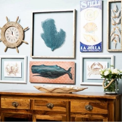 beach-bedroom-gallery-wall-1 Beach Bedroom Decor & Coastal Bedroom Decor