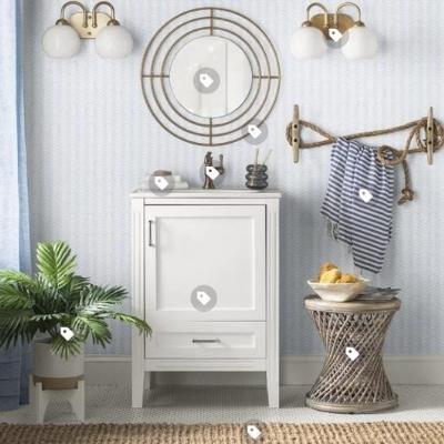 beach-nautical-bathroom-18 Beach Bathroom Decor & Coastal Bathroom Decor