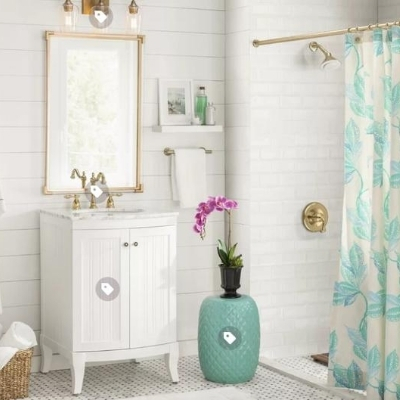coastal-design-bathroom-9 Beach Bathroom Decor & Coastal Bathroom Decor