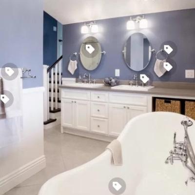 nautical-bathroom-13 Beach Bathroom Decor & Coastal Bathroom Decor