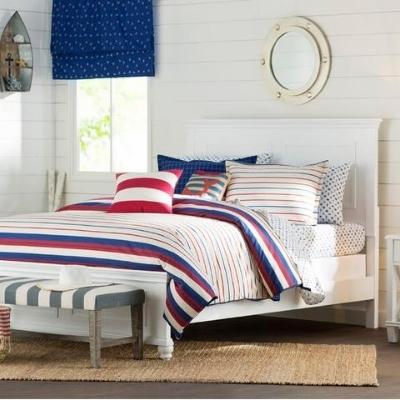 nautical-style-bedding-15 Beach Bedroom Decor & Coastal Bedroom Decor