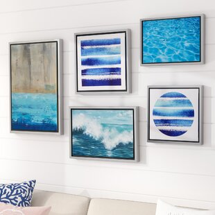 27WaterTideGallery275PieceFramedGraphicArtPrintSetonCanvas 100 Beach House Decor Ideas