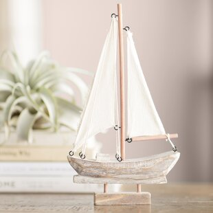 AlvyHandcraftedNauticalWoodenSailBoat 100 Beach House Decor Ideas