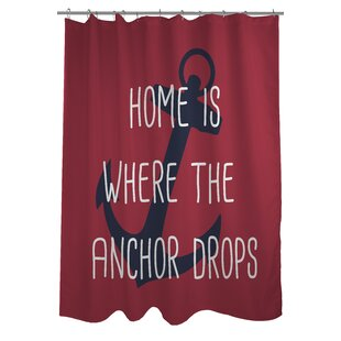 AnchorDropsSingleShowerCurtain Best Anchor Shower Curtains