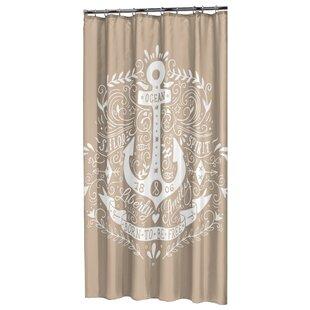 AnchorSingleShowerCurtain Best Anchor Shower Curtains