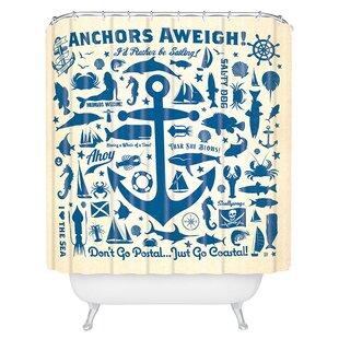 AndersonDesignGroupAnchorsAweighShowerCurtainSingleHooks Best Anchor Shower Curtains