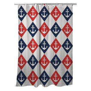CeceliaAnchorSingleShowerCurtain Best Anchor Shower Curtains