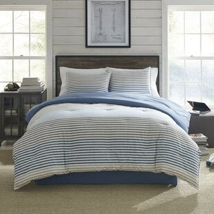 ChambrayStripeReversibleComforterSet 100 Beach House Decor Ideas