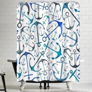 ElenaOneillAnchorsSingleShowerCurtain Best Anchor Shower Curtains