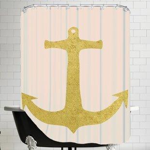 FlamingosandUnicornsAnchorSingleShowerCurtain Best Anchor Shower Curtains