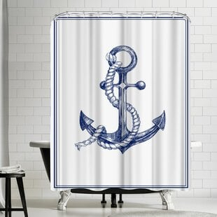 NaudaAnchorShowerCurtain Best Anchor Shower Curtains