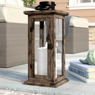 TallWoodandGlassLantern 100 Beach House Decor Ideas