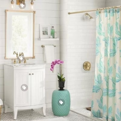 beach-bathroom-design-8 100 Beach House Decor Ideas