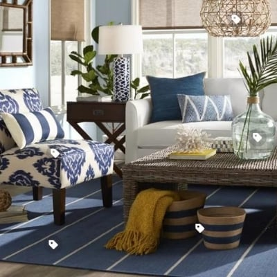 beach-living-room-5 100 Beach House Decor Ideas