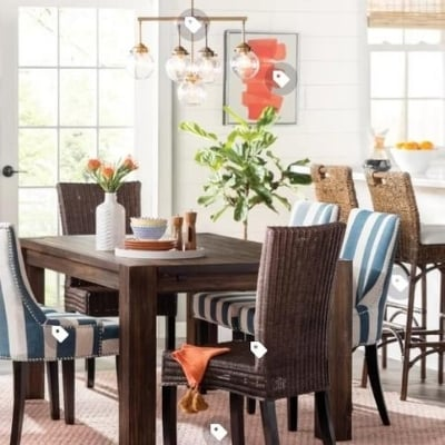beach-themed-dining-room-design-20 100 Beach House Decor Ideas