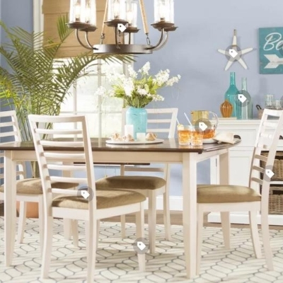 coastal-dining-room-9 100 Beach House Decor Ideas