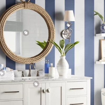 nautical-bathroom-16 100 Beach House Decor Ideas