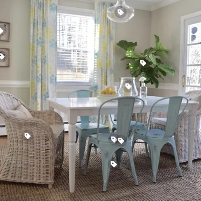 ocean-dining-room-14 100 Beach House Decor Ideas