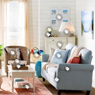 ocean-themed-living-room-20 100 Beach House Decor Ideas