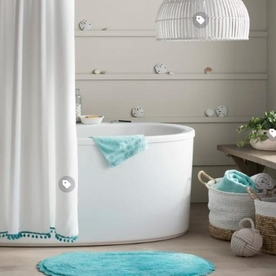 seashell-bathroom-9 100 Beach House Decor Ideas