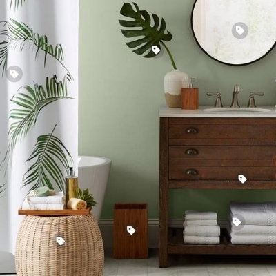 tropical-bathroom-18 100 Beach House Decor Ideas