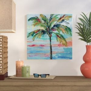 CaliforniaPalmIIPaintingPrintonWrappedCanvas-300x300 Beach Wall Decor & Coastal Wall Decor