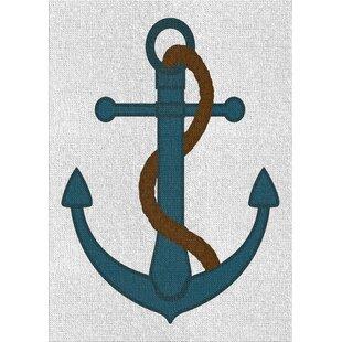 AnchorBlueAreaRug-2 Best Anchor Themed Area Rugs