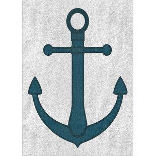 AnchorBlueAreaRug-3 Best Anchor Themed Area Rugs