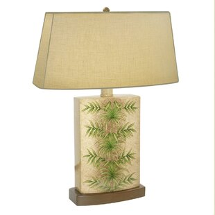 ArecaPalmLeafHandPaintedPorcelain2822TableLamp Best Palm Tree Lamps