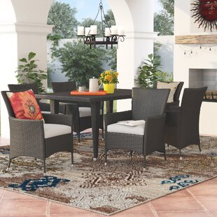 Areli7PieceDiningSetwithCushion Wicker Dining Tables & Wicker Patio Dining Sets