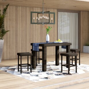 Belton5PieceBarHeightDiningSet Wicker Dining Tables & Wicker Patio Dining Sets