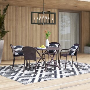 Belton5PieceDiningSet Wicker Dining Tables & Wicker Patio Dining Sets