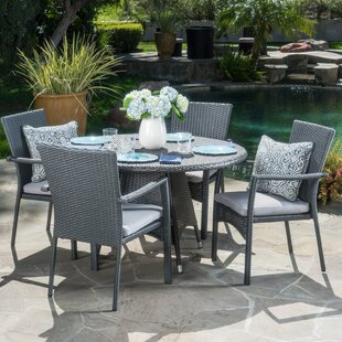 Brandon5PieceDiningSetwithCushions Wicker Dining Tables & Wicker Patio Dining Sets