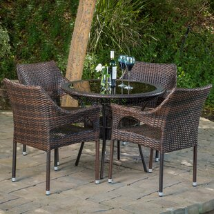 DraegerOutdoor5PieceDiningSet Wicker Dining Tables & Wicker Patio Dining Sets