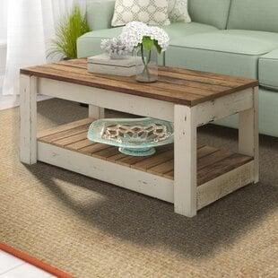 ElihuSolidWoodCoffeeTable Beach Coffee Tables & Coastal Coffee Tables