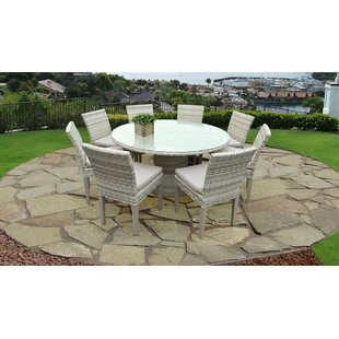 Falmouth9PieceDiningSetwithCushions Wicker Dining Tables & Wicker Patio Dining Sets