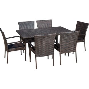 Kissner7PieceDiningSet Wicker Dining Tables & Wicker Patio Dining Sets