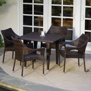 Olevia5PieceDiningSet Wicker Dining Tables & Wicker Patio Dining Sets