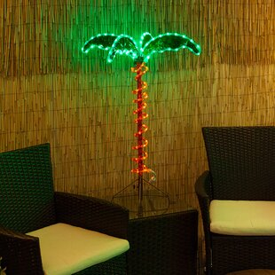 TabletopPalmLightedTrees26Branches Best Palm Tree Lamps