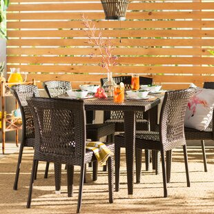 Vinalhaven7PieceDiningSet Wicker Dining Tables & Wicker Patio Dining Sets