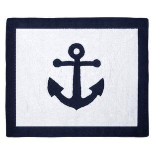 WhiteAreaRug Best Anchor Themed Area Rugs