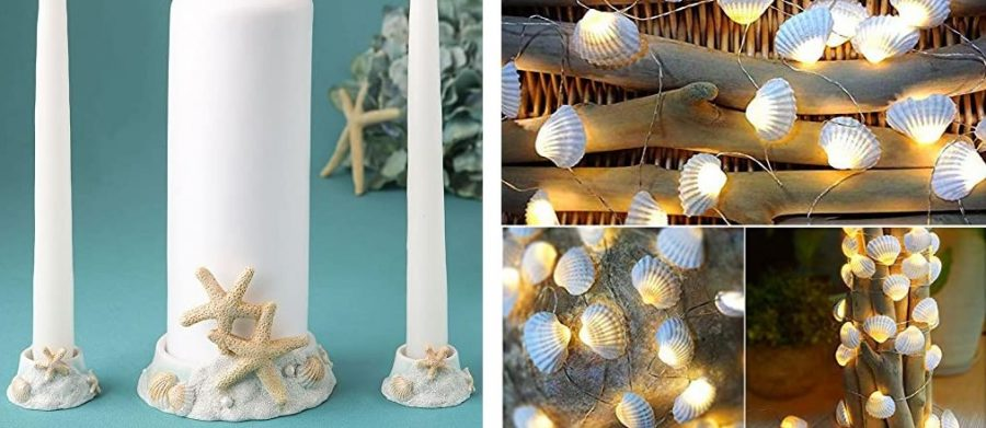 seashell wedding decor
