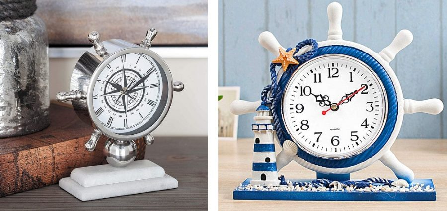 nautical desk clock