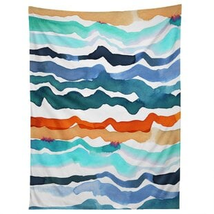 CayenaBlancaBeachWavesTapestry 6 Best Types of Wall Hanging Tapestries