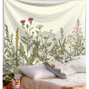 WildPlantPolyesterTapestrywithHangingAccessoriesIncluded 6 Best Types of Wall Hanging Tapestries