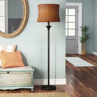 EvertBasketweave59.5_FloorLamp Coastal Floor Lamps & Beach Floor Lamps