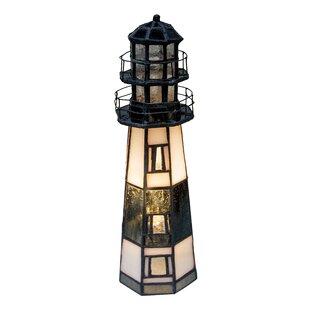 TanyaMontaukPointLighthouse9.5_LightedArtGlassNoveltyLight Lighthouse Lamps