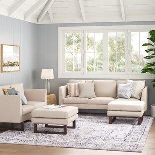 Alisson4PieceStandardLivingRoomSet Beach & Coastal Living Room Furniture